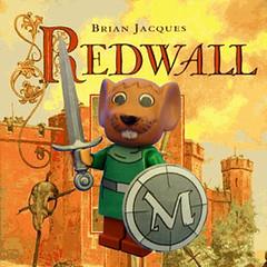 Matthias the Warrior (Hound Knight) Tags: mouse lego decal minifig custom redwall fabuland