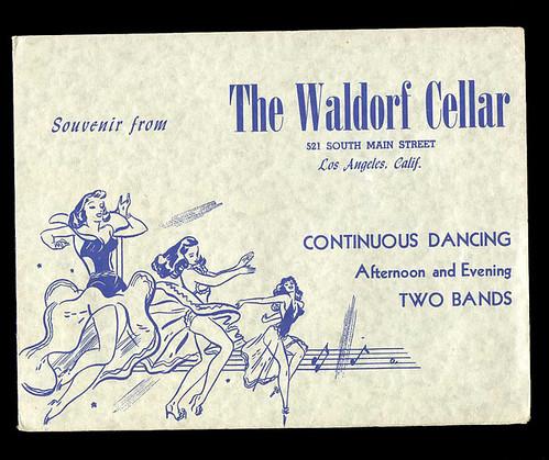 waldorf cellar souvenir card