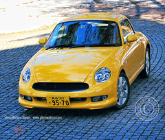 Copen by Daihatsu (Glenn Waters in Japan.) Tags: car yellow japan aomori japon sportscar  copen  d700 nikond700  glennwaters