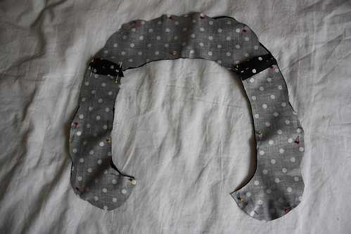 Step 9: Iron Allowances Open then Pin Facing and Fabric Together