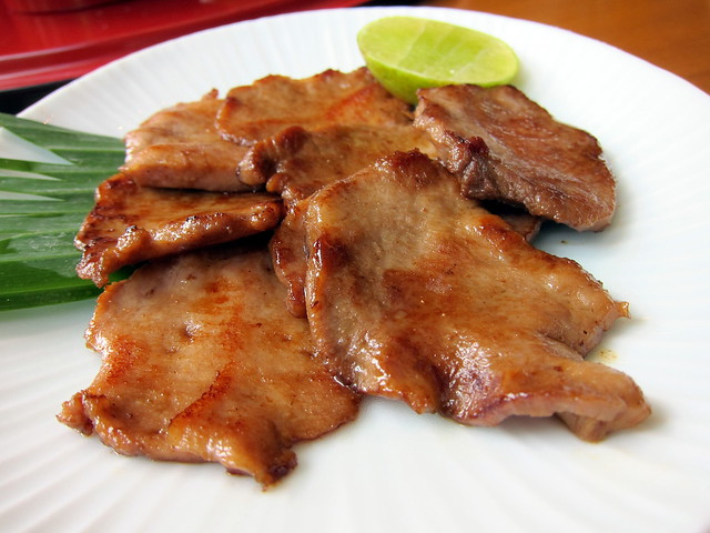 Grilled Beef Tongue with Butter