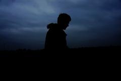 Sihouette Man (samjhume) Tags: sunset shadow sky cloud man silhouette person cloudy cloudysky silhouettesshadows silhouetteperson
