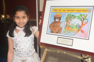 On Mary 27, 2011, Vaibhavi Patankar of Woodland Hills, Calif., was named the top winner in the 2011 Smokey Bear & Woodsy Owl Poster Contest.