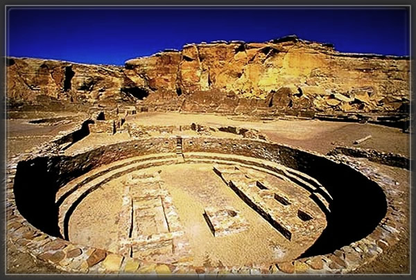 Great Kiva - Chaco Canyon,native american,sacred ruins