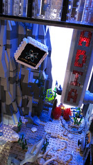 Rapture Floor Lifelites & Arcadia (Imagine) Tags: tower architecture airplane toys lego billboard artdeco rapture littlesister bigdaddy moc watercity bioshock lifelites imaginerigney brickworld2011