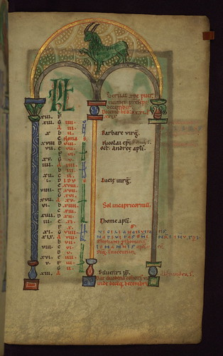 Illuminated Manuscript, Claricia Psalter, Walters Art Museum Ms. W.26, fol.7r by Walters Art Museum Illuminated Manuscripts