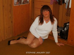 January (stephine2007) Tags: sexy tgirl tranny heels miniskirt pantyhose crossdresser tg shemale
