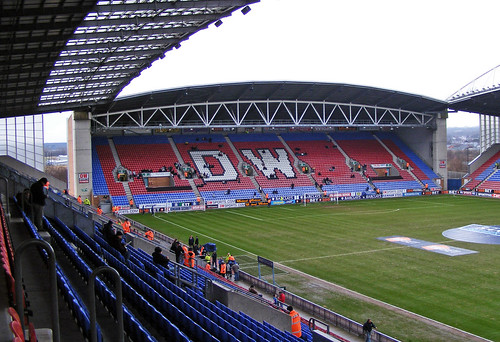 DW Stadium North Stand, Wigan Athletic v Tottenham Hotspur, 21 February 2010