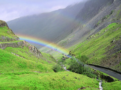 Pot of gold (Paul.Coote) Tags: light sky cloud mountain plant storm colour nature water grass stone landscape rainbow outdoor hill ridge cumbria fell