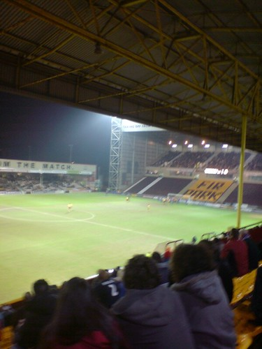 From the away end