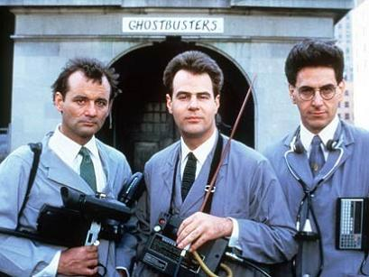 Ghostbusters - Bill Murray, Harold Ramis, Dan Aykroyd - Venkman, Spengler, Stantz ... directed by Ivan Reitman, also with Sigorney Weaver and Rick Moranis