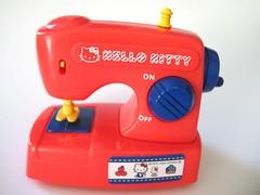 Sew  - Hello Kitty - (Warm 'n Fuzzy) Tags: red hk cute toy hellokitty craft kawaii sewingmachine