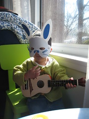 Easter Bunny and the ukulele