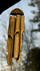 windchimes (pinkeerach) Tags: light evening bamboo windchimes