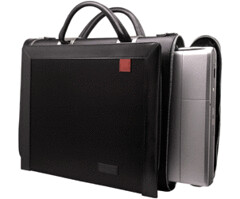 Large Microfiber Computer Bag from Aaron Irvin Design Group (Front Exterior 2)