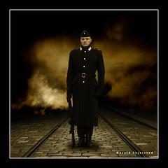 En soldat står æresvakt. (Harald`s photo-page.) Tags: riga soldat haralds alarecherchedutempperdu