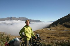 From the Crown Ranges Summit, 1076 m.a.s. NZ highest asphalt road.