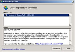 Windows XP SP3 Update