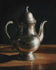 Teapot (lisaober) Tags: stilllife art silver reflections artist tea paintings stlouis lisa oil teapot etsy pewter oilpainting ober stilllifeart stilllifepaintings etsyartist lisaober stlouisartist