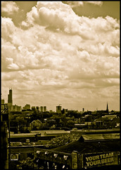 Sears Tower (=Tom=) Tags: chicago skyline sepia tom nikon baseball searstower c 55mm cubs wrigleyfield f4 wrigleyville 13200 d300 55200vr ctomvaclavek