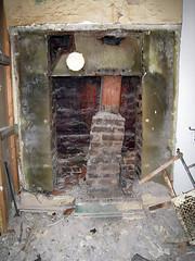 What have we done (Jimmy Legs) Tags: chimney house brick kitchen tile demo fireplace debris plaster oldhouse hearth renovation bushwick liner teardown