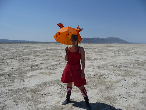 Fishbrella on the playa