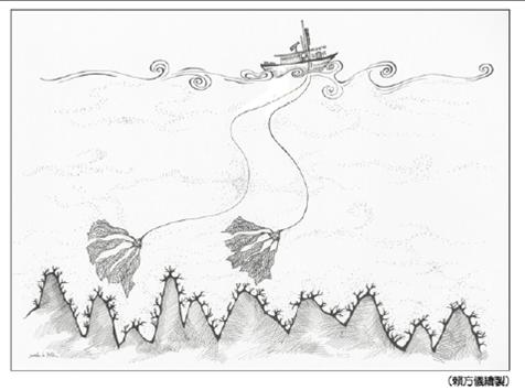非選擇性漁法採集珊瑚的作業方式