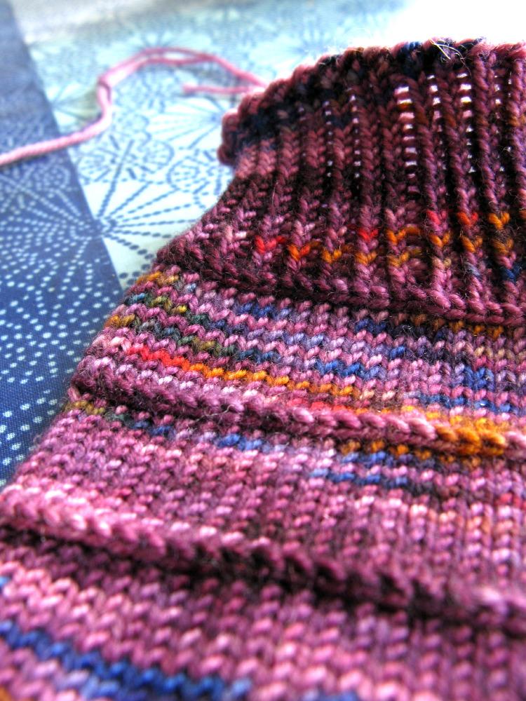 Socks in Colinette Jitterbug