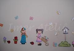 border menina e menino (Imer atelie) Tags: border artesanato menina menino pintura mdf borboletas colorido organiza apliques decoraçãoquarto portavassouras