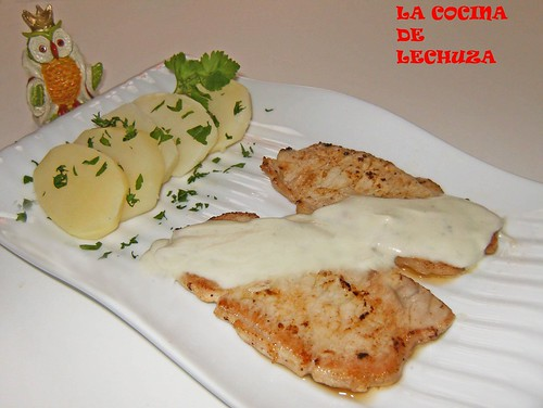 Lomo en salsa de queso-plato
