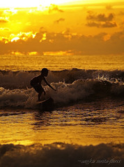 surfer kid 2 (Angkulet) Tags: travel sunset beach kids philippines surfing sanjuan launion urbiztondo