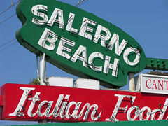 Restaurant Sign (sfPhotocraft) Tags: california sign restaurant la losangeles italianfood playadelrey beachtown redgreenwhite salernobeach