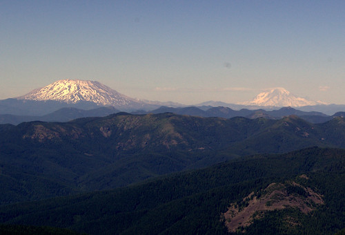 St. Helens and Rainier