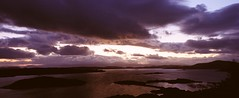 Lunga Sunset Sky (Campbell Mitchell) Tags: sunset angle wide hasselblad mitchell campbell xpan lunga