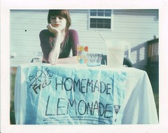 Lemonade Stand (amanda pulley) Tags: polaroid stand kate lemonade 320 packfilm katescamera