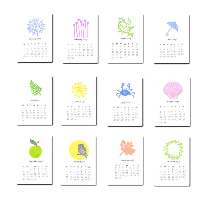 Artful Sentiments 2009 Calendar