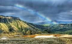 The Rainbow at Yellowstorm (Stuck in Customs) Tags: lighting light panorama storm mountains art colors lines modern composition work photography intense rainbow nikon montana shoot artist photographer shot angle image photos unique background details horizon d2x perspective picture best mammoth springs edge processing pro yellowstone wyoming framing portfolio capture hdr treatment mostviewed highquality treysalbum stuckincustoms treyratcliff