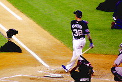 2008 MLB All-Star Game - Home Run Derby - Josh Hamilton admiring a home run (Al_HikesAZ) Tags: nyc newyork game home sports major texas risk baseball action manhattan hamilton run player professional josh contact players 2008 rangers allstar yankeestadium league homerun mlb allstargame beisbol joshhamilton homerunderby  majorleaguebaseball alhikesaz nyc2008 jonrn