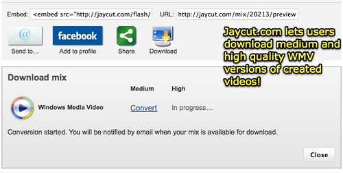 JayCut downloadable videos