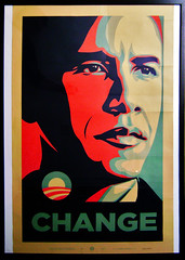 Obama... (LukeDaDuke) Tags: art poster president obey fairey change politician campaign democrat obama shepardfairey shepard barackobama barack thenextpresident