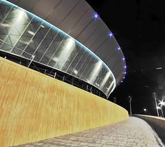 Curvilinear (Saiful.Ismail_Photography) Tags: longexposure liverpool nightshot echo arena curve wilkinsoneyre liverpoolcapitalofculture2008 liverpoolechoarena nikond300