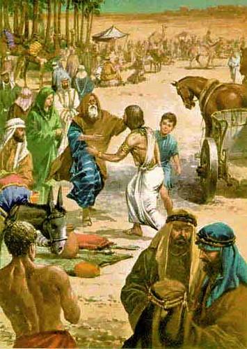 José e Jacó se Abraçam | Imagens Bíblicas