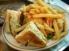 Chicken Salad Sandwich (wEnDaLicious) Tags: nyc chinatown sandwich fries chickensalad everestdiner