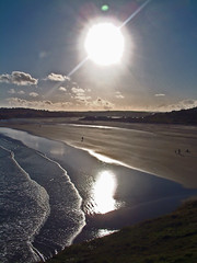hydrogen furnace on a summers evening @ inchydoney, cork, ireland (silyld) Tags: ireland sea irish sun seascape beach sunshine sand glare cork furnace relfection corcaigh hydrogen inchydoney abigfave anawesomeshot guasdivinas