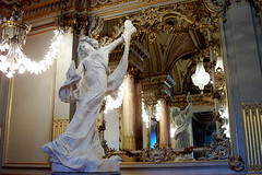 Musee D'Orsay Restaurant (Emily Taliaferro Prince) Tags: sculpture paris france reflection art museum mirror museedorsay dorsay flickrsmasterpieces