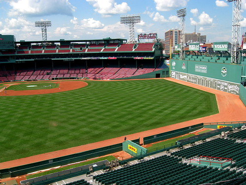 First View of the Diamond and Green Monster