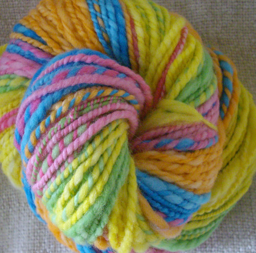Rainbow Stripe - handspun yarn
