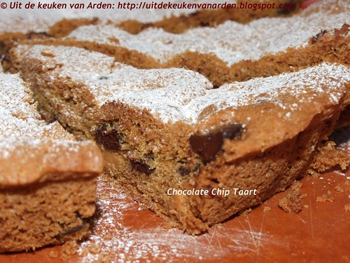 Chocolate Chip Taart /Giant Chocolate Chip Cookie