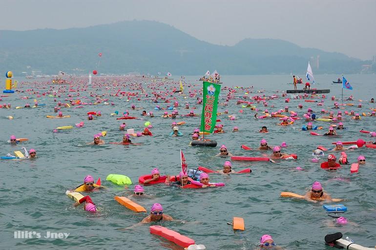 20080831_萬人泳渡日月潭盛況