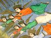 ... (Elham varposhty) Tags: تخت ایرانی نقاشی فولاد فرشته